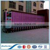 Lighting Aluminum Electric factory used Gate |aluminum driveway gate