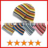 Cheap striped baby knitted beanie hats (SU-KH53001)