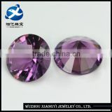 Rough Gemstones Purple red Round Brilliant Cut 9mm Loose Artificial Crystal Glass Gemstone Prices