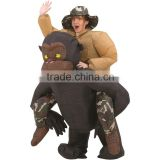 Unisex Costume Inflatable Riding Gorilla Halloween Costume/kids halloween costumes bulk/China whole halloween costume for sale