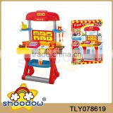 Play At Home Children electronic fast food restaurant pretend set plastic table set with music
