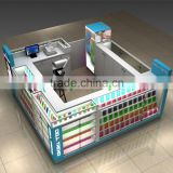 Customized brand mall cell phone display showcase/ mobile phone display counter