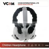 2015 Plush Earmuff Winter Warm Lovely Kids Headphone with Factory Price