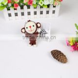 Lovely Monkey handbags wallets backpack decoration lucky charm ornament knitted bulk production small hanging toys