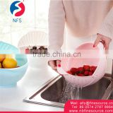Washing Vegetable Strainer Basket Kitchen Wholesale Plastic Vegetable Foldable PP Basket