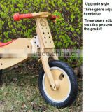 12 inch child balance bike wooden wheel