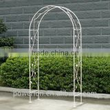 Anti white garland Elegant wedding arch wrought iron metal antirust for outdoor garden use