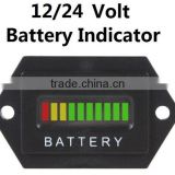 12v/24v universal hexagonal battery discharge indicator