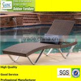 Outdoor furniture modern garden rattan furniture sun lounger patio wicker loungers