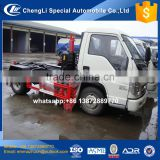 lowest price 3cbm foton pull arm rear loader small garbage truck with good quality