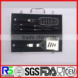 4pcs good quality factory price stainless steel BBQ tool set with aluminium case