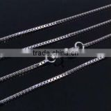 Sterling silver box chain -1.0mm