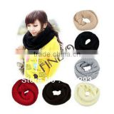 Winter Thickening Solid Scarf Wool Yarn Scarf Thermal Big Muffler Scarf Lovers Ring 8016