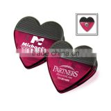 Heart Magnetic Clip - features a chrome-plated magnet with a non-slip black grip and comes with your logo