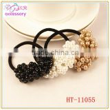 New arrival hand made pearl elastic hair band , pearl hair accessory for lady