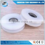 Nylon coated ball bearing plastic pulley