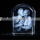 Couple pic 2D laser engraving crystal