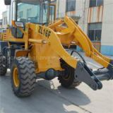 ZL16F 1.6 Ton Yunnei 490 Engine 39kw 0.6m3 Bucket Capacity Wheel Loader With Joystick Control