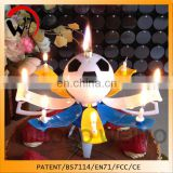 animated star firecracker birthday candle with music