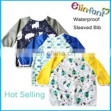 Elinfant hot selling waterproof sleeved bib