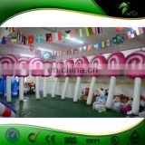 China Manufacture 2.5M Inflatable Christmas Lollipop, Lollipop Balloon Christmas Decoration