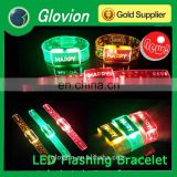 Screen logo print New design Soft plastic led light bracelet for party
