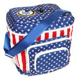 Flag printing 600D polyester insulated lunch cooler bag