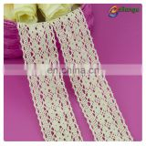 4cm wide garment accessories 100% cotton long white lace