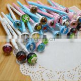 office and school novelty fancy creature ballpoint pen for children and kids with spiral shell,flower,starfish,scorpin