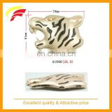 fashion zinc alloy tiger head shaped decorative belt buckle with enamel for screwed on belt