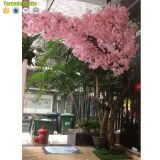 New Arrival factory direct wedding decor natural Bending trunk artificial silk trees cherry blossoms