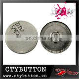 CTY-SN(019)logo engraved jeans metal snap button