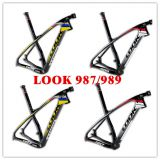 T1000 look 989 carbon MTB bike frame 3K matt/glossy 29er size S carbon mountain bicycle frame stem/seatpost/headset/clamp