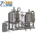beer brew kettle and beer brewing system for beer production line