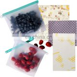 Reusable Beeswax Food Wrap Silicone Food Storage Bags, Organic Cotton Paper Wrap, Eco friendly Plastic Wrap Alternative