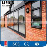 German brand hardware high quality bi folding door /Double glazing aluminium bi fold door