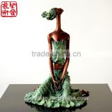 Bronze Statue Of Abstract Figure Women Elaborate Sculpture Small Home Decorative Sculpture