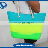 silicone beach handbag lovely totes bag for ladies