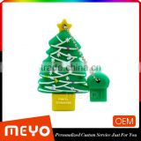 christmas customized christmas tree pvc usb flash drive,oem usb flash drive,usb flash drive christmas decoration