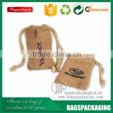 100% Eco-Friendly small hessian jute bag /jute fabric bag