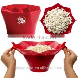 avon supplier foldable Microwave Silicone Popcorn Maker SGS,FDA,LFGB certified Popcorn Bowl