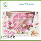 16 Inch baby toy doll with trolley and bed wholesale doll trolly