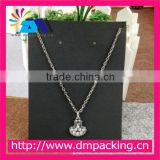 Hot Sell!!!High Quality Cheap Black Plastic Jewelry Display Card For Earring and Necklace