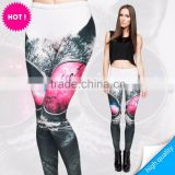2015 digital print 3D print new style high quality hot sexy photo leggings for mature women