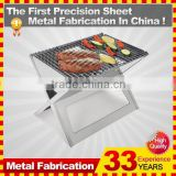 Outdoor Camping Small Flat Stainless Steel Charcoal BBQ Grills