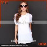 women longline t shirt ladies sides cut open sheer tank top wholesale longline women fashion t shirt