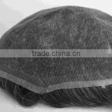 full lace grey hair men's toupee hair replacement