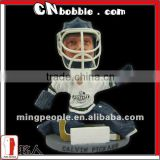 personalized resin sports Hockey-Goalie bobblehead
