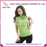 New Model Wholesale Price Sexy Girl High-necked Ruffle Knitted High Quality Plus Size Women Tank Tops