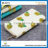2016 fruit design fashion ladies wallets , fruit printed wallet, banana wallet, pineapple wallet                                                                                                         Supplier's Choice